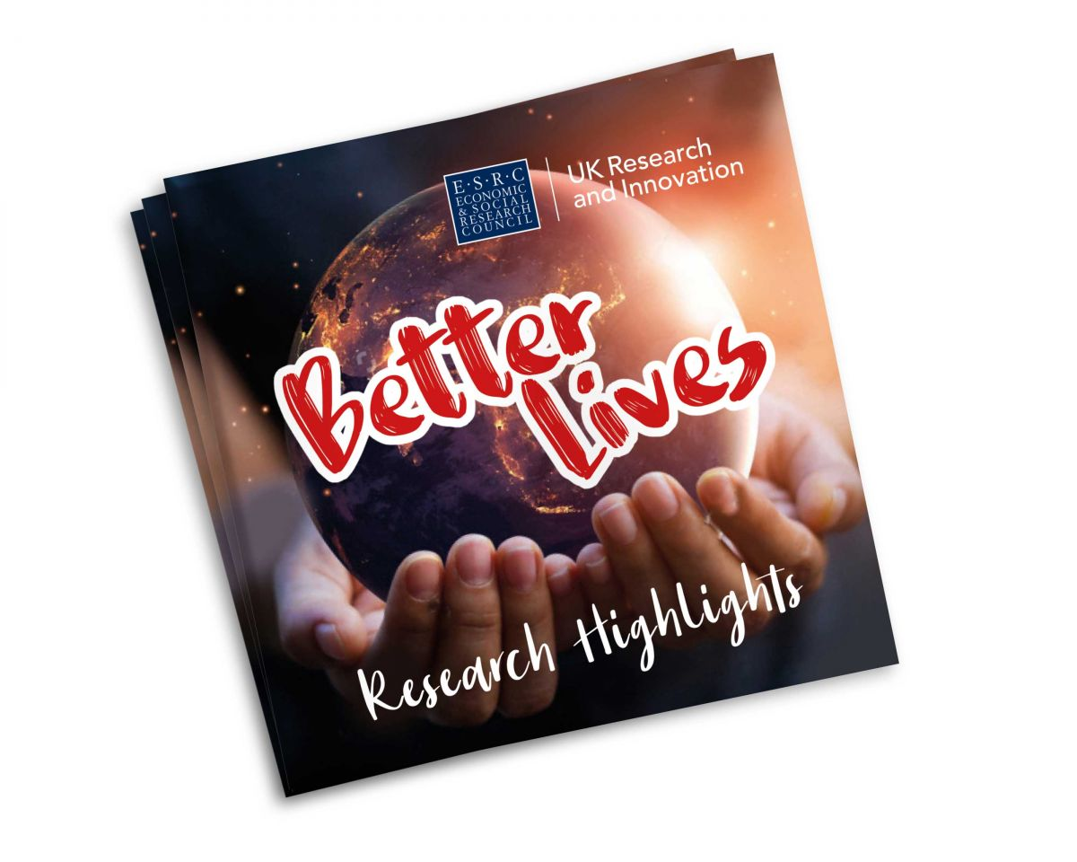 ESRC - Better Lives - Research Highlights - Brochure Cover