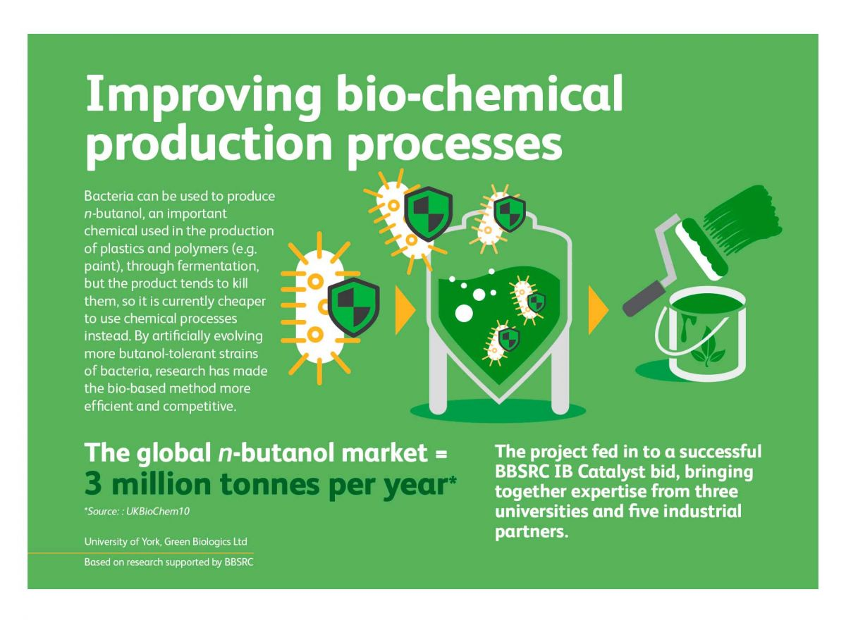 BBSRC & UKRI - Industrial Bioscience - Improving Bio-Chemical Production Process