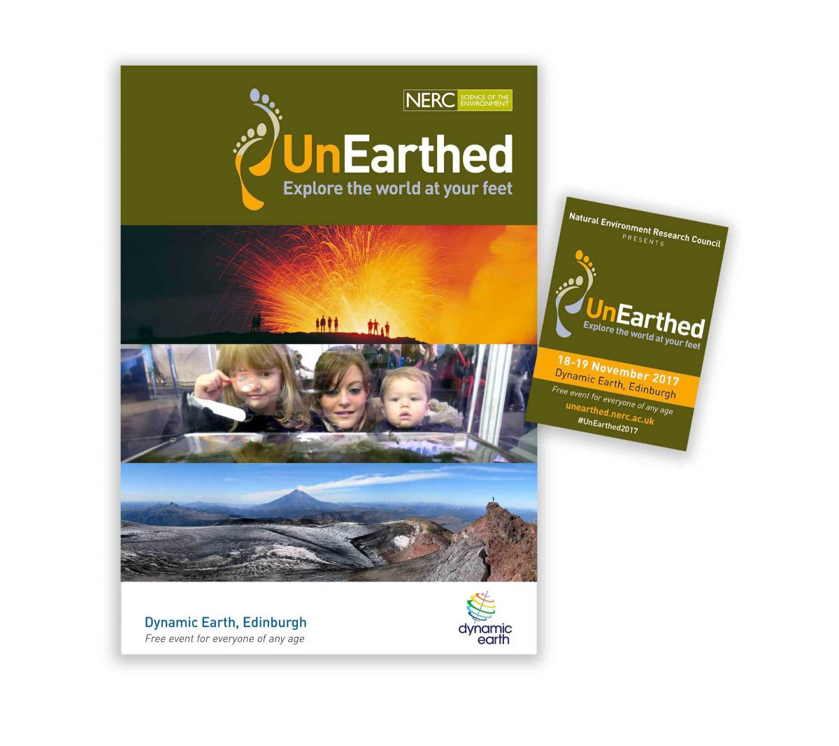 NERC - UnEarthed Programme and Booklet Cover Designs