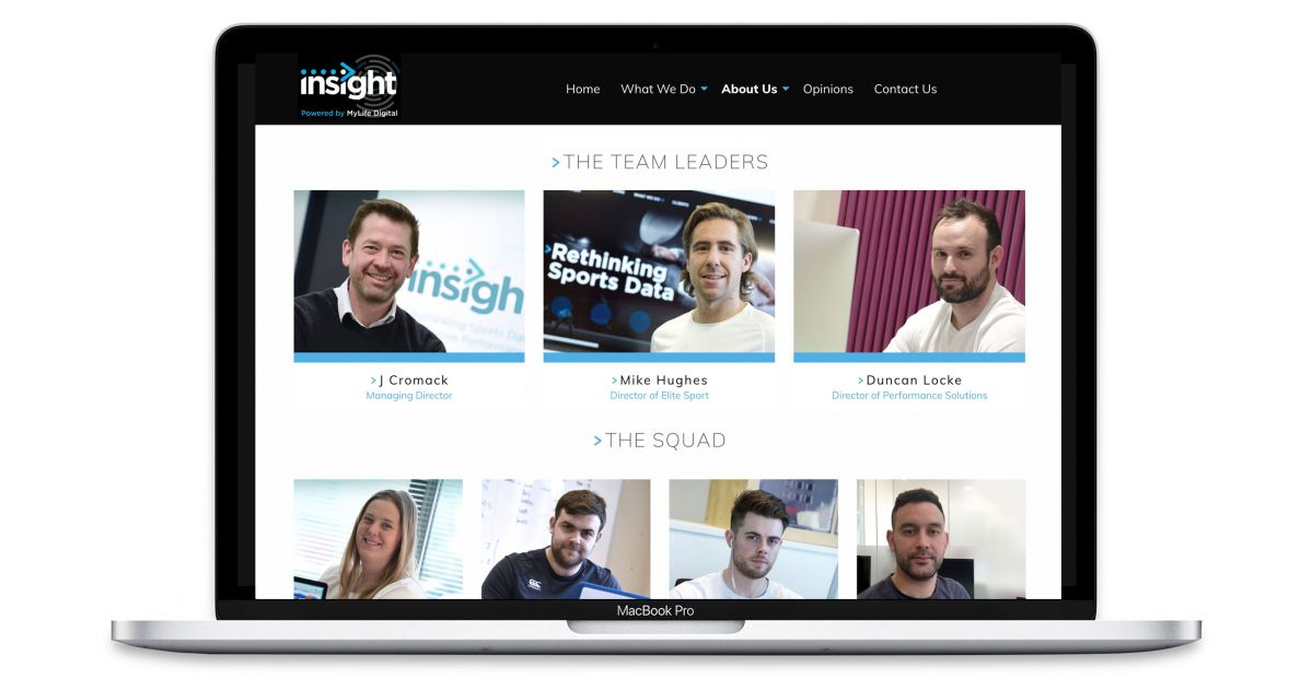 Insight - Sports Analytics Specialists - The Team Web Page