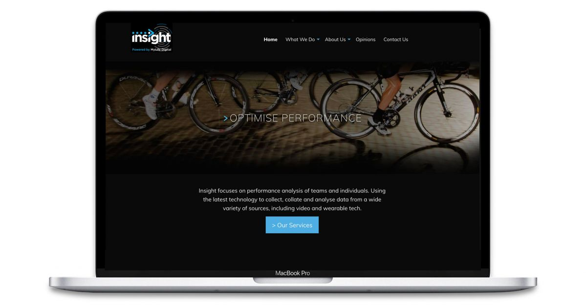 Insight - Sports Analysis - Website - Home Page
